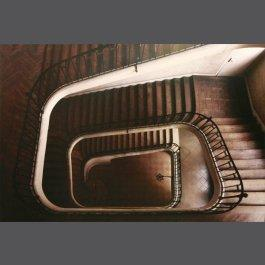 """Limited Edition Poster Paris Staircase, Downview"" Mounted - For the Wall"