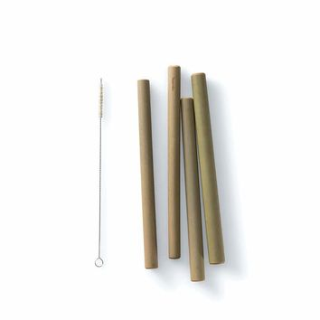 Reusable Jumbo Bamboo Straws