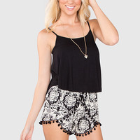 Free For All Crop Top - Black