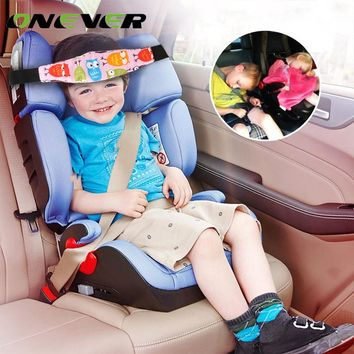 Onever Car Baby Stroller Accessories Adjustable Car Safety Seat Sleep Positioner Strollers Baby Head Support Fastening Belt