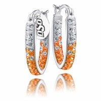 Oklahoma State Cowboys Crystal Hoop Earrings. Free Shipping