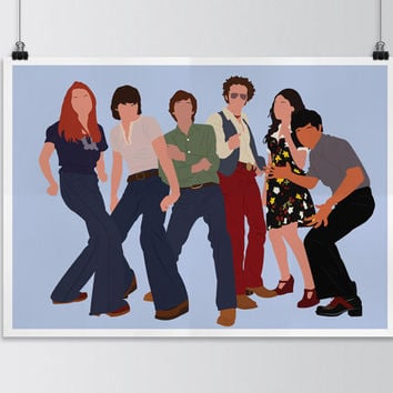 That 70's show, That 70's show minimalist poster, That 70's show digital art poster