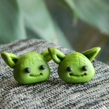 Yoda Earrings, star wars earrings, star wars, star wars jewelry, earrings, star wars gift, geeky jewelry, Yoda, Disney earrings, Disney