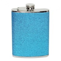 Glitter 8 oz Alcohol Flask