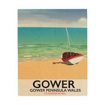 Gower Peninsula Wales beach poster