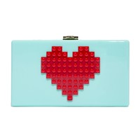 Heart Lego Mint Clutch