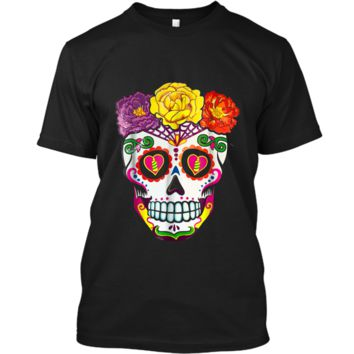Colorful Flower Sugar Skull Day Of The Dead Costume  2 Custom Ultra Cotton