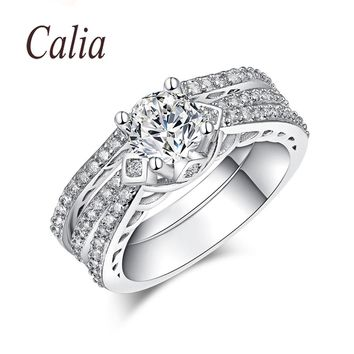 Hot Modelling Unique Fashion Rings For Women Sterling Silver Jewelry Cubic Zirconia Eternity Wedding Lovers Promise Couple Ring