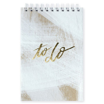 Hand-Painted Daily Jotter Whitewash