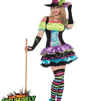 Adult Pop Neon Witch Costume- Party City