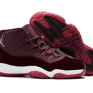 DCCKJ3V Air Jordan 11 Retro AJ11 Velvet Heiress Wine Red Sneaker Shoes US5.5-13-1