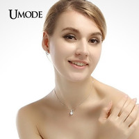 UMODE Small Size Classic AAA+ Cubic Zirconia Crystal Pendant Necklace UN0031