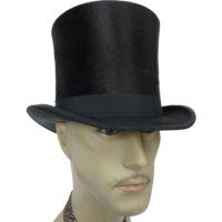 Antique Silk Plush Top Hat