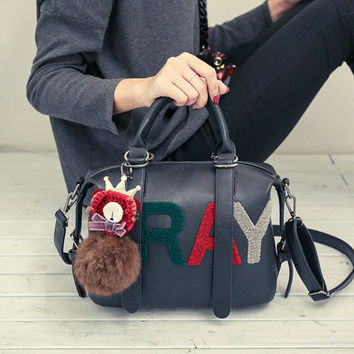 Winter Stylish Alphabet Fashion Tote Bag Shoulder Bags