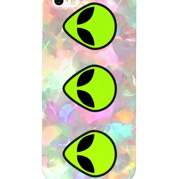 Triple Alien Head Phone Case