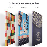 For Apple ipad Pro 12.9 Case Hard Plastic Stand Ultra-Thin Slim Cover Luxury Colorful Cartoon Flip Leather Case