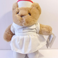 Jerry Elsner Teddy Bear Nurse Feel Good Toy Velvet Touch Collection