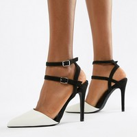 New Look Wide Fit Strappy Mono Stiletto at asos.com