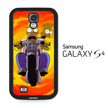 Tv Show The Simpsons Bart And Homer Samsung Galaxy S4 Case