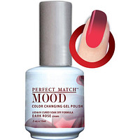LeChat Perfect Match Mood Gel - Dark Rose 0.5 oz - #MPMG34