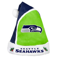 Seattle Seahawks  Official NFL 2015 Holiday Santa Hat