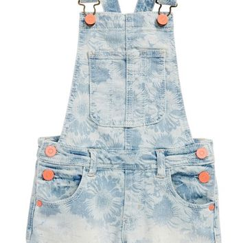 Peek Daisy Cutoff Short Overalls (Toddler Girls, Little Girls & Big Girls) | Nordstrom