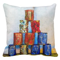 Soup Cans - After The Lunch Throw Pillow