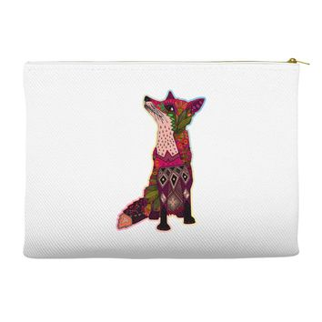 floral fox Accessory Pouches