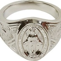 Sterling Silver Mens Miraculous Ring - Size 9