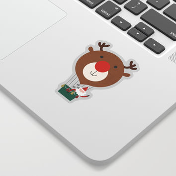 Day 13/25 Advent - Air Rudolph Sticker by lalainelim