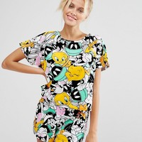ASOS | ASOS Looney Toons Tee & Short Pajama Set at ASOS