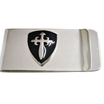 Black Medieval Shield Money Clip