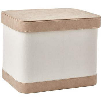 Blix Bath Storage Bin with Lid, Basket Organizer for Towels, Magazines, Toys