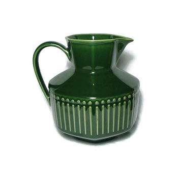 Spruce Green Vista Del Sol Mid Century Design Pitcher by Nancy Calhoun, Retro Ceramic