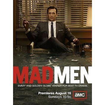Jon Hamm Mad Men Promo poster Metal Sign Wall Art 8in x 12in