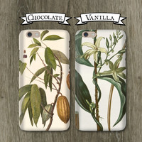 Couples Phone Cases - Chocolate and Vanilla, Opposites Attract - iPhone 6, 5/5S 5C, Galaxy s4 s5 Cases Newlyweds iPhone Cases