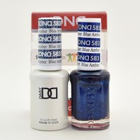 DND Daisy Soak Off Gel Polish + Matching Nail Polish Duo 583 Blue Amber