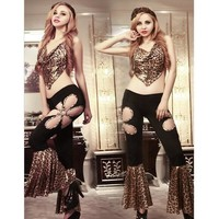 9968 Women Sexy Lingerie Fashion Leopard Print Costumes Ballroom Dance Dress Evening Party Wear Halloween Costumes for Women
