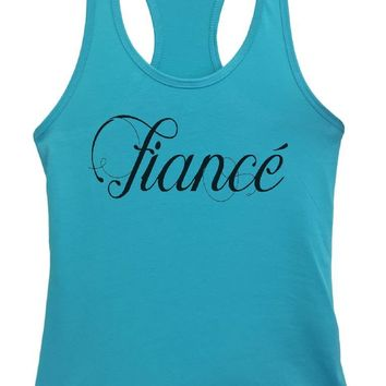 Womens Fiance Grapahic Design Fitted Tank Top