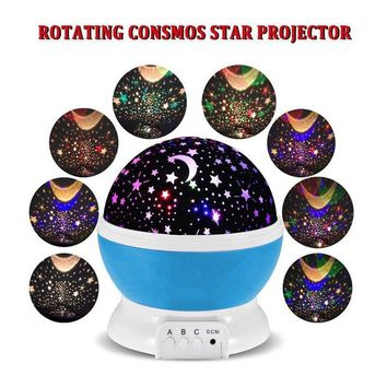 Spin Starry Sky Star Night Light Projector Lamp