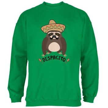 CREYCY8 Despacito Means Slowly Funny Sloth Pun Mens Sweatshirt