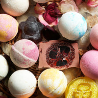 24 Pack Bath Bomb Set Assorted Colors Scents Ultra Lush Handmade Fizzies Shea & Cocoa Butter Great For Dry Skin Freshly Handmade Everyday!