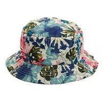 Hat Club x Flexfit Bucket Hat - White, Floral