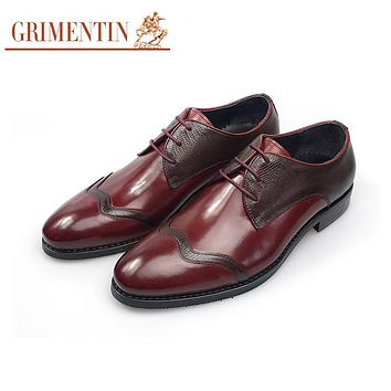 Genuine Leather Men Business Shoes Brown Male Shoes