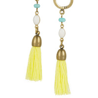 Isabel Marant - Gold-plated, howlite and tassel earrings