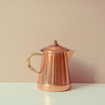 Vintage copper pot made in Portugal