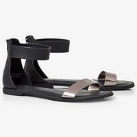 COLOR BLOCK ZIP BACK SANDAL from EXPRESS