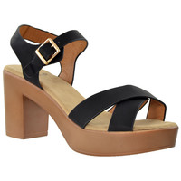 Womens Open Toe Platform Sandals Black