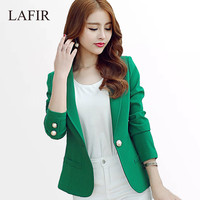 Ladies Blazers 2016 New Fashion Single Button Blazer Women Suit Jacket Green/Yellow/Black Blaser Female Plus Size Blazer Femme