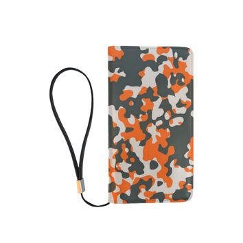 Camo Orange Dreamer Men's Clutch Purse
